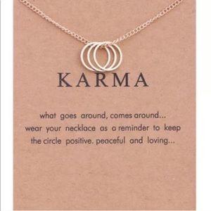 ✨RESTOCKED! Karma Necklace Gold Dainty Boho Chain